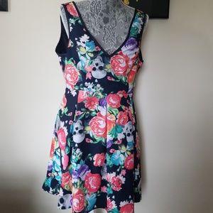 Like new iron fist floral skull dress